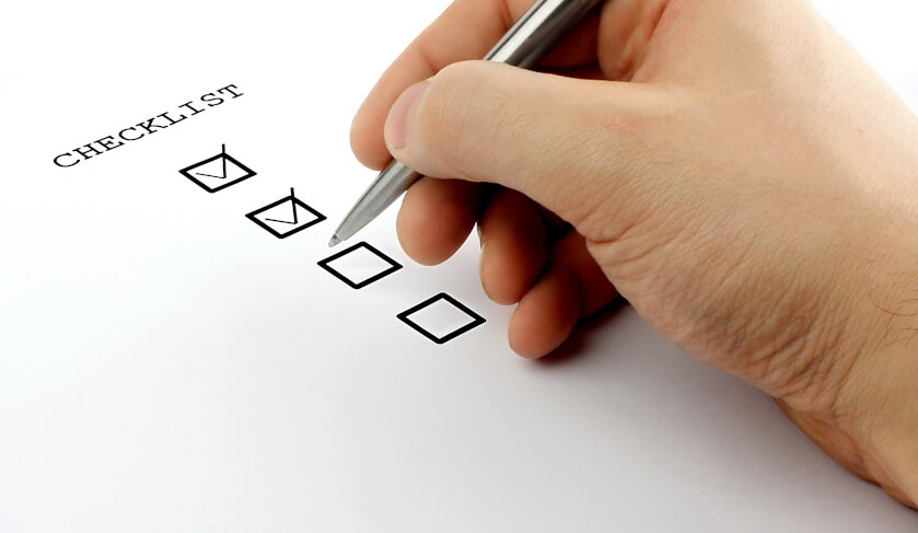 checklist for end of tenancy