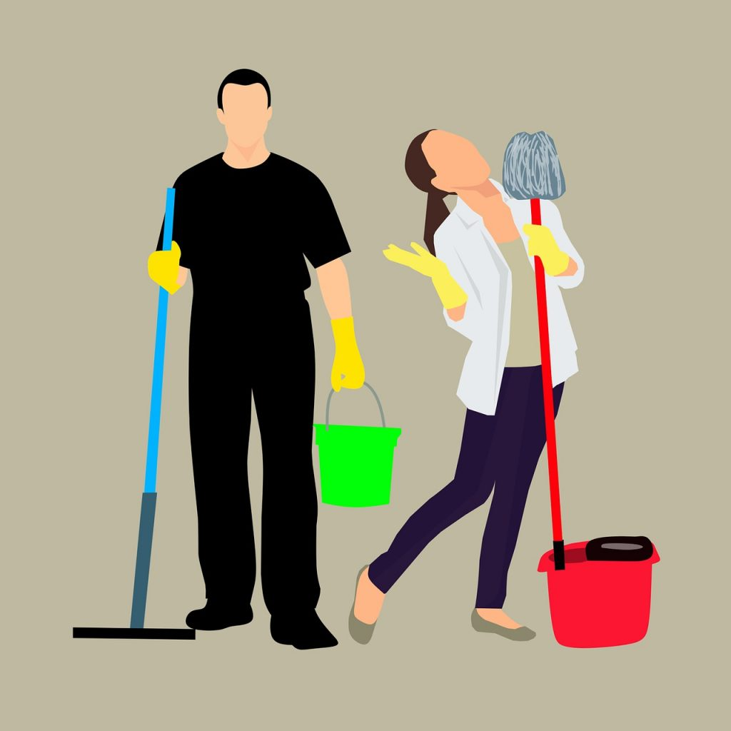 cleaning, service, cleaner